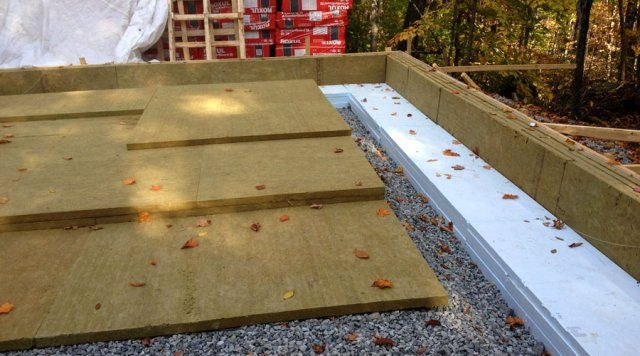 Slab on grade with roxul mineral wool insulation passive for Wool insulation cost