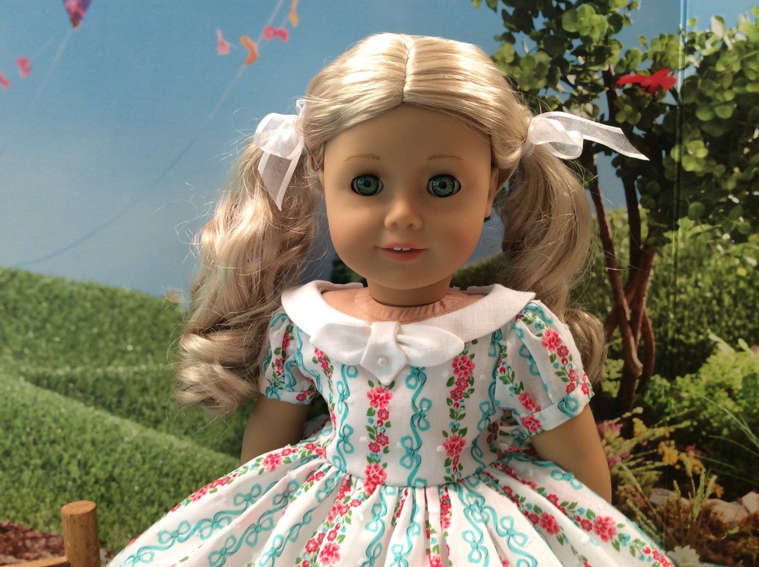 American Girl Doll Clothes-1950\'s Garden Party Dress and ...