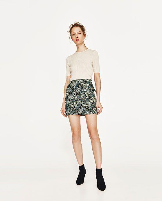 1953fc660cda3 FALDA JACQUARD | SIMMOD TEXTILE | Zara fashion, Skirt outfits ve ...