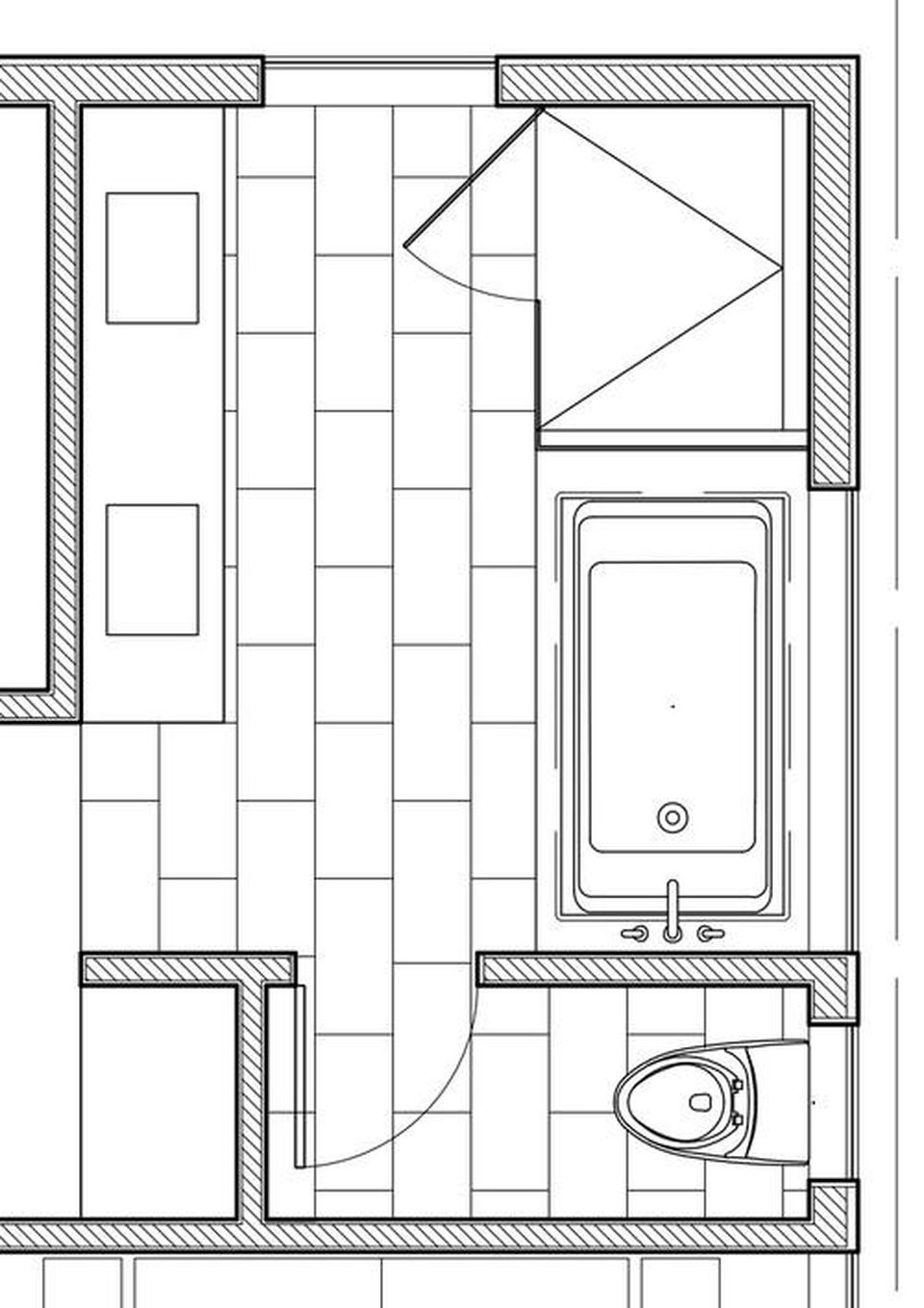 7 Bathrooms That Prove You Can Fit It All Into 100 Square Feet Bathroom Floor Plans Bathroom Design Layout Square Feet