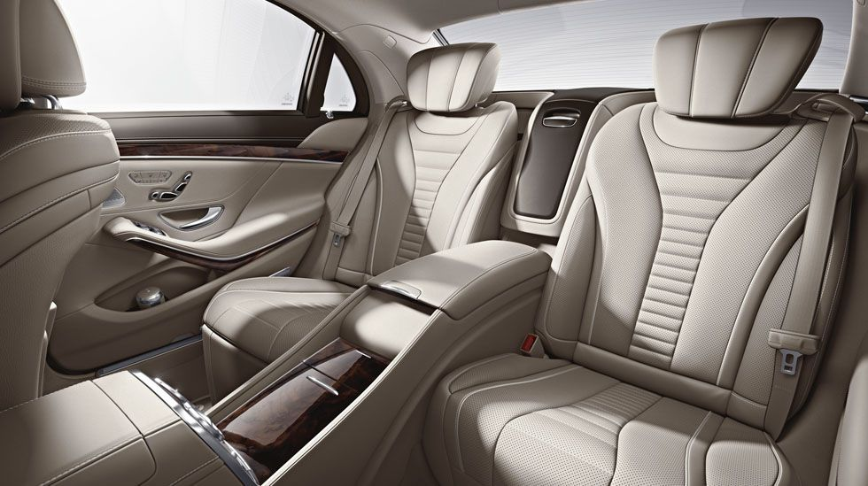Rear seats of the all new mercedes benz s class 2014 for Interieur s klasse