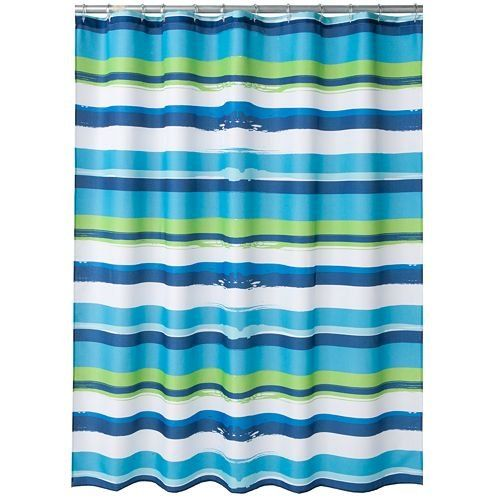 Oblique Royal Blue, Aqua, Lime Green & White Bold Horizontal Striped ...