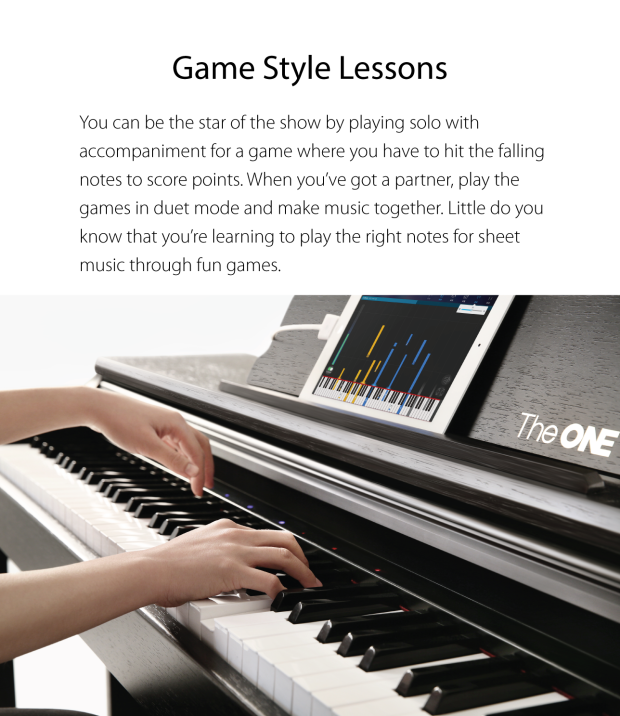 The ONE Smart Piano Teaches Even the Most Fat-Fingered Individuals How to Play -  #ipad #music #piano