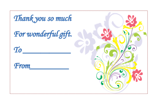 template for thank you card for gift | Projects to try | Pinterest ...