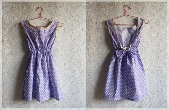 Cute purple polka dot dress with lace by MyNameIsSueclothes https://www.facebook.com/pages/MyNameIsSue/287566731284089?hc_location=timeline