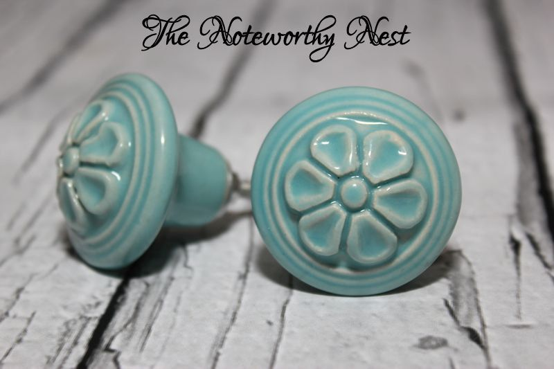 SALE: Knobs // Decorative knobs // drawer pulls // light blue knobs ...
