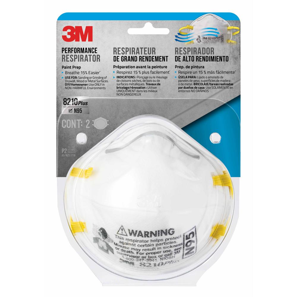 3m n95 paint sanding respirator mask 2 pack case of 12 on home depot paint sale id=16111
