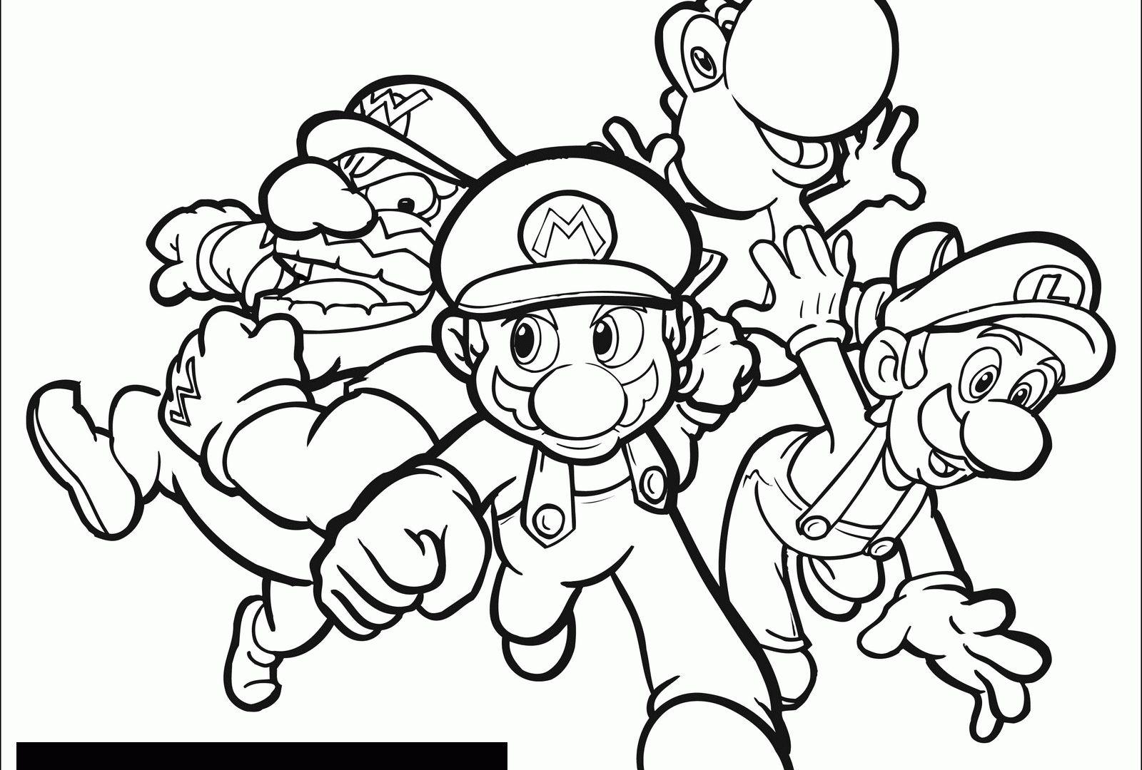 Super Mario Bros Coloring Pages Mariohers Colouring Sheets Bros