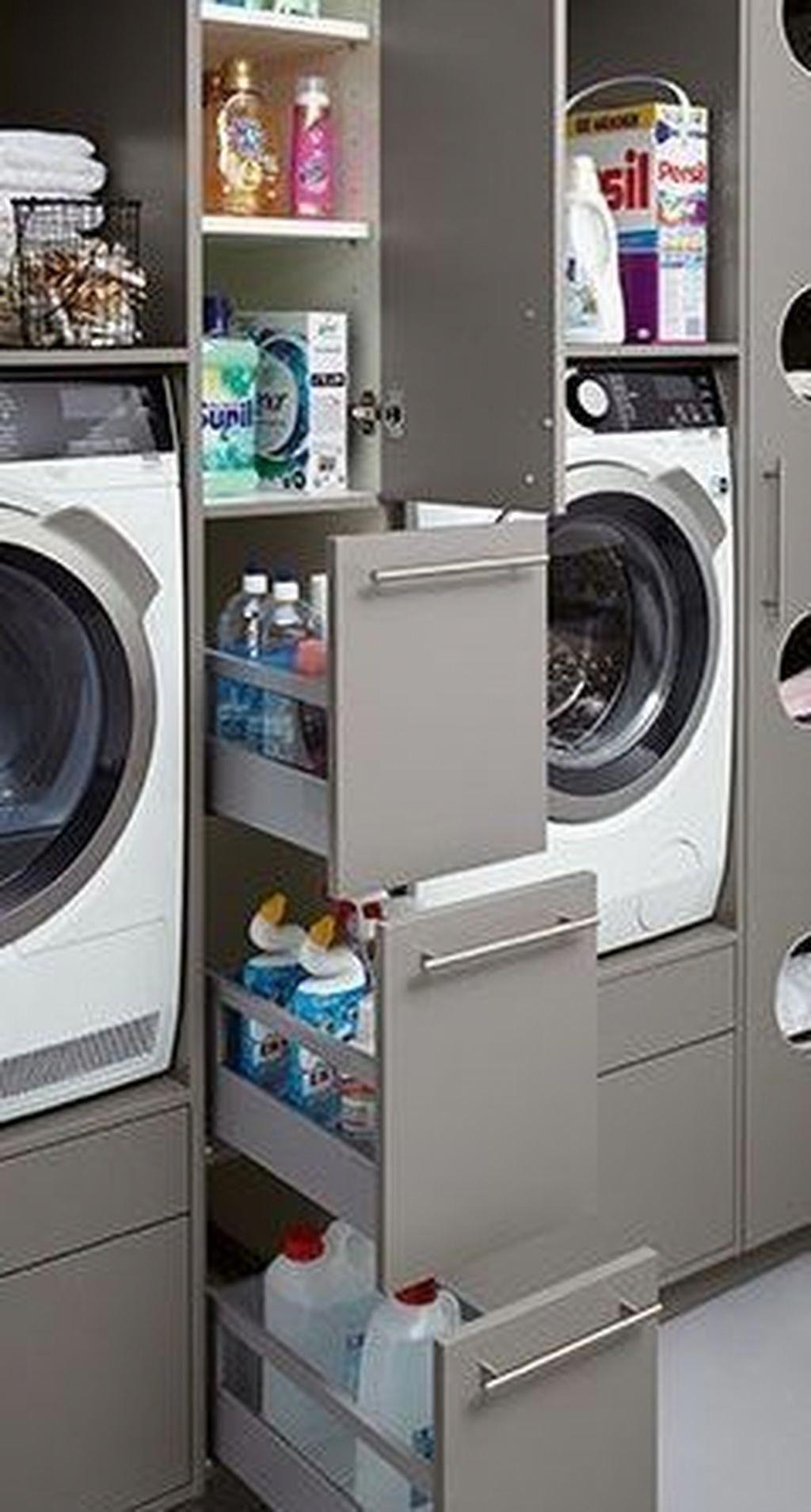 40 Elegant Laundry Room Storage Decor Ideas In 2020