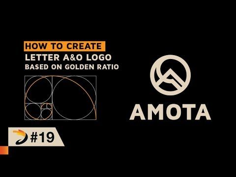 How To Create Letter A  O Logo Based On Golden Ratio