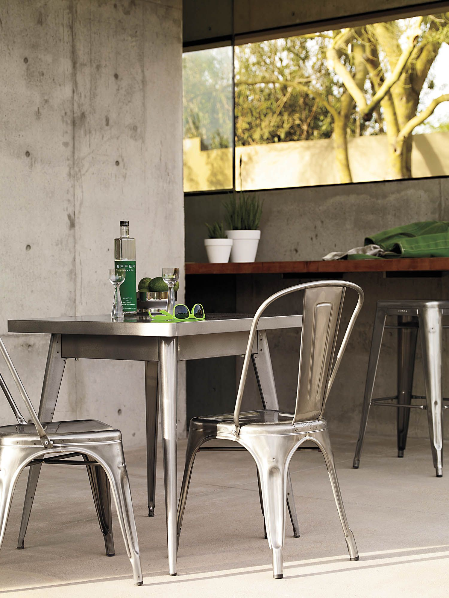 Beau From Battleships, To Bistros, To Backyards, Enjoy The Tolix Marais A Chair.  Designed By Xavier Pauchard