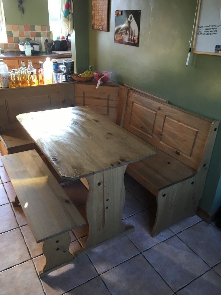 L Shape 6 7 Seater Kitchen Table And Bench Chairs Kitchen Table