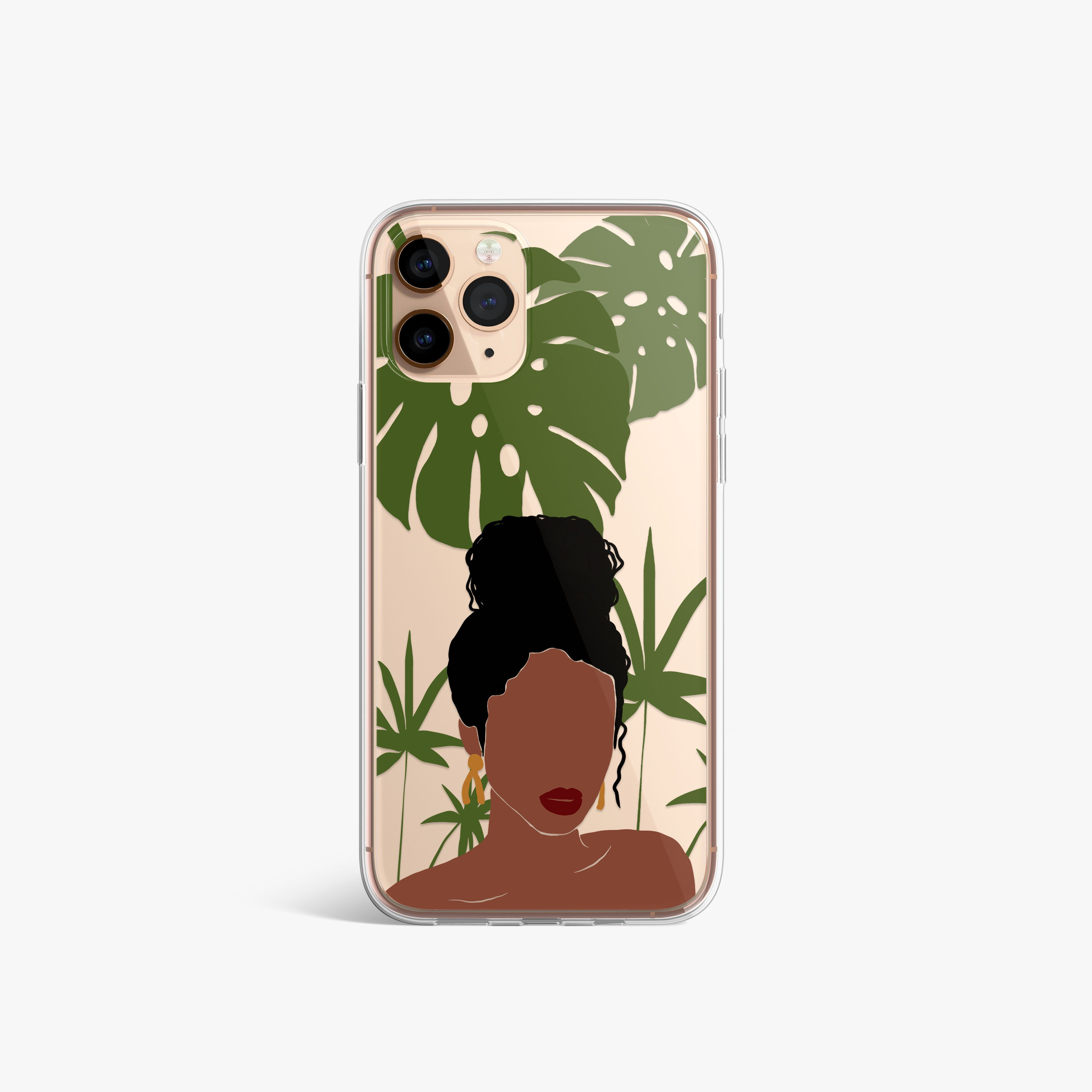 Messy Bun Clear iPhone Case - iPhone XS Max