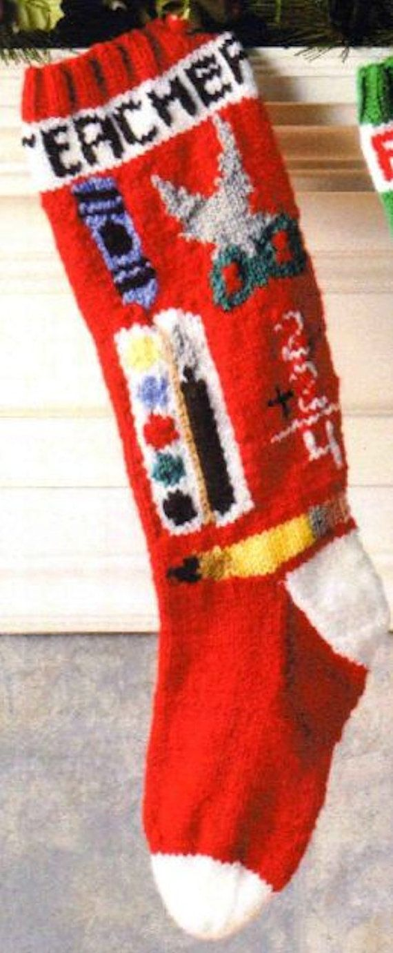 Personalized hand knitted christmas stocking stockings personalized hand knitted christmas stocking bankloansurffo Choice Image
