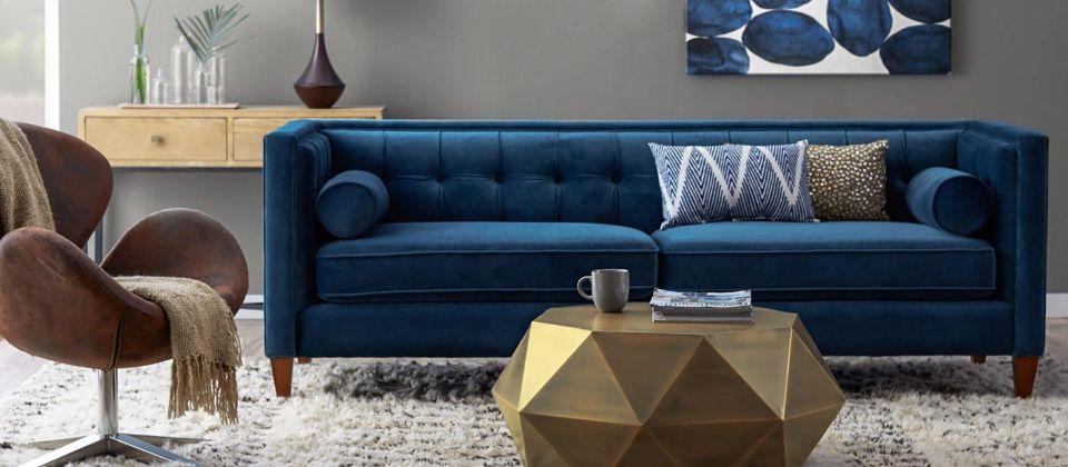 Royal Blue Bronze Living Room Styleboard By Chic Romance Www Hayneedle Com Bronze Living Room Blue And Gold Living Room Gold Living Room