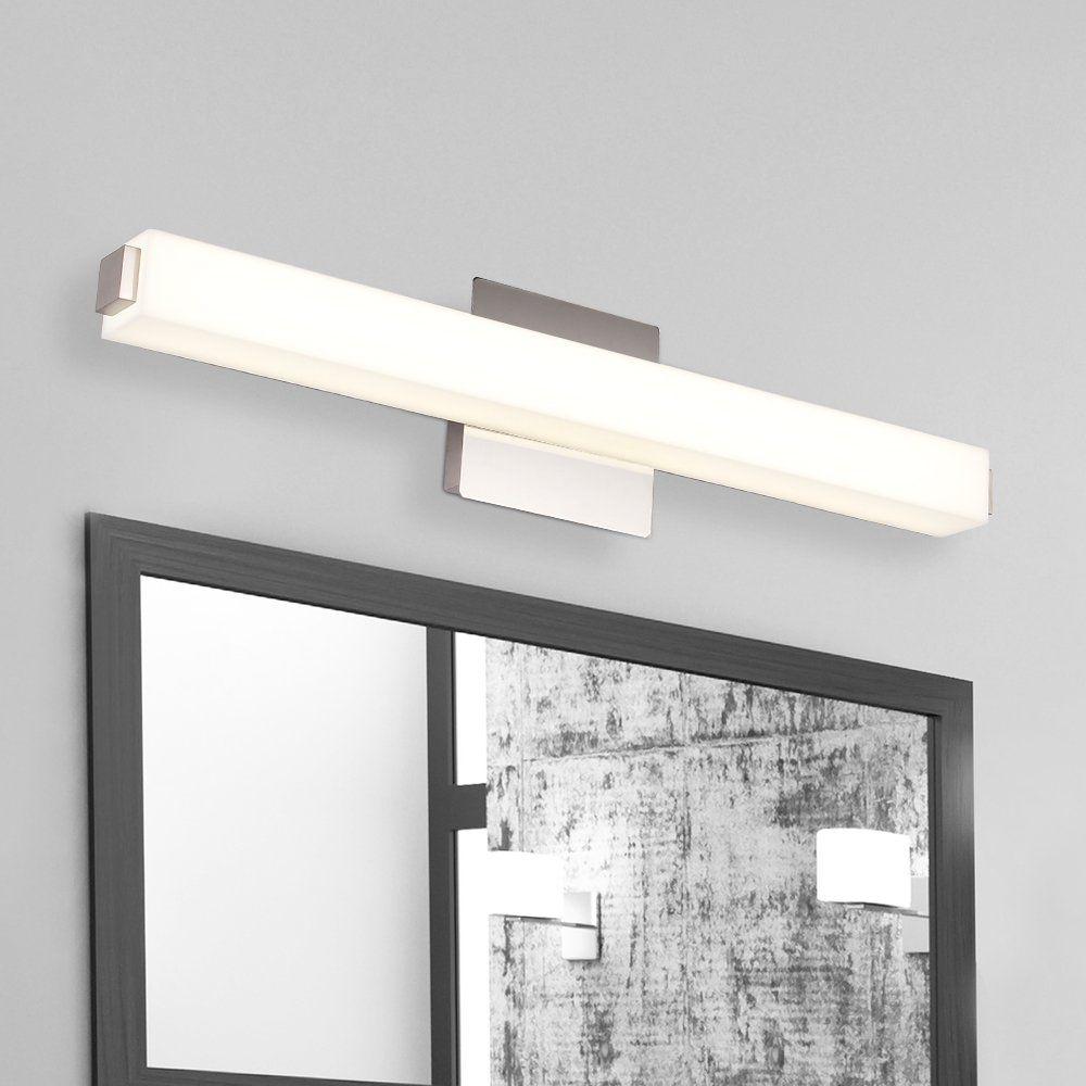 JUSHENG Vanity Light 24.4 Inches LED Vanity Light 16 W White Acrylic ...