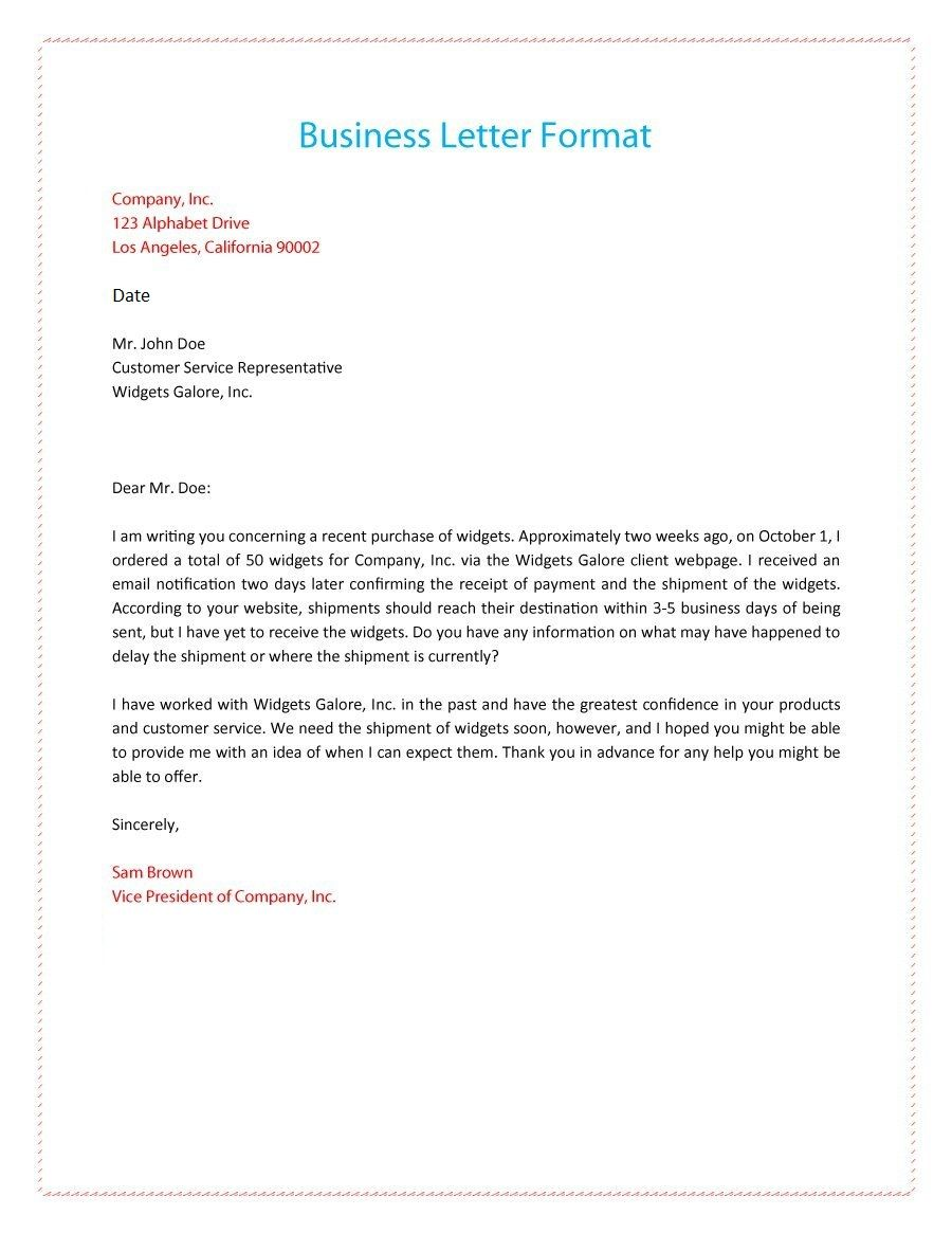 business letter format free printable calendar business letter format example templates printables