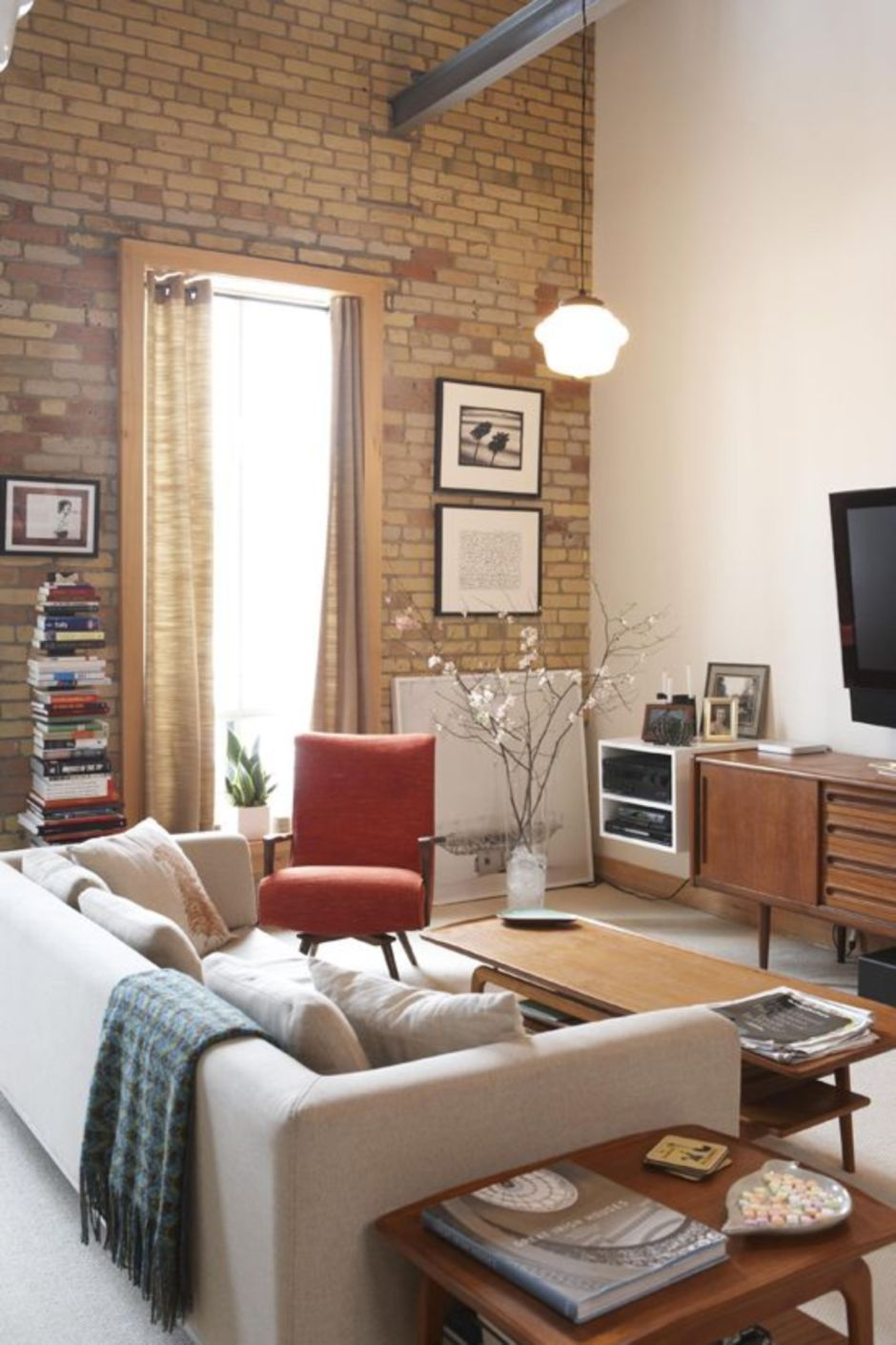 Fascinating Exposed Brick Wall For Living Room 23 Deco Maison