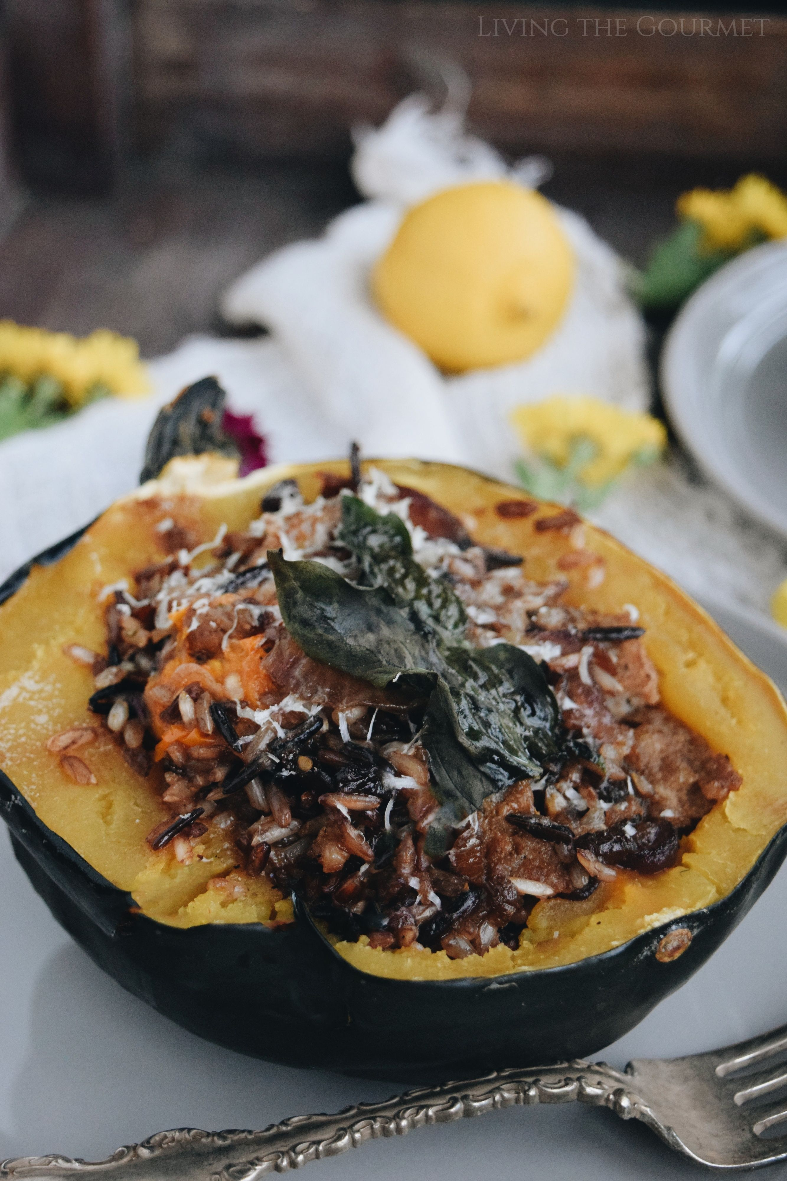 Stuffed Acorn Squash Recipe Vegetable Recipes Healthy