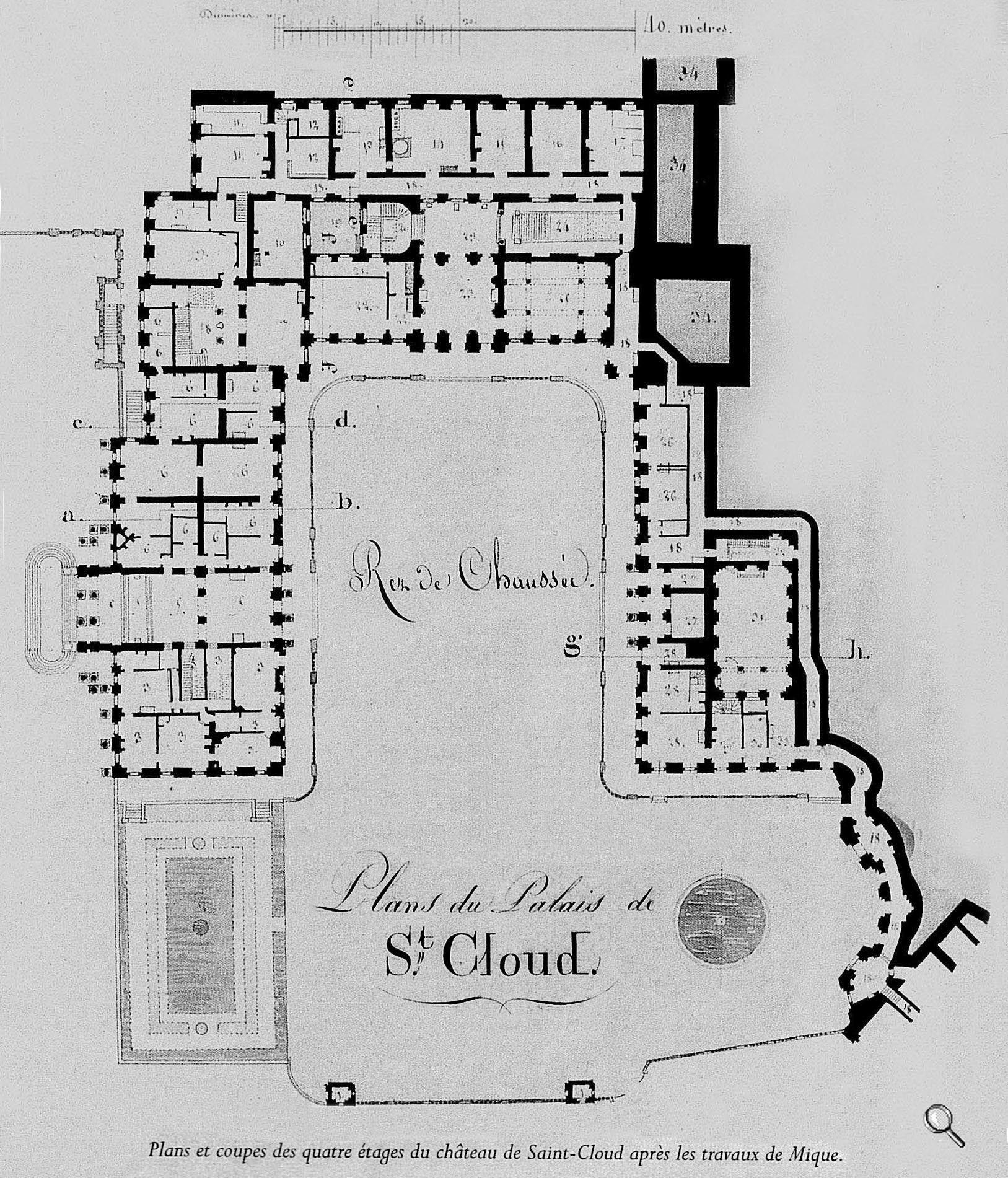 Plans Du Château Rez De Chaussee/ Ground Floor