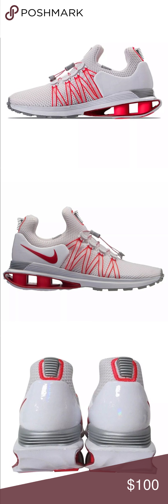 quality design fbd39 c2a65 Nike Shox Gravity White Red Mesh Shoes NEW Nike Shox Gravity White  University Red Mesh Running