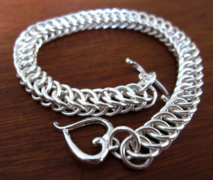 Make A Chain Mail Bracelet: Half Persian Chainmaille, Bracelet