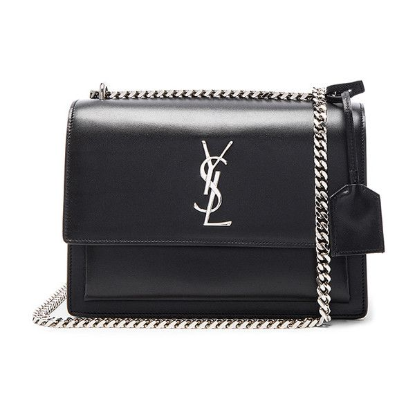 Saint Laurent Medium Monogram Sunset Chain Bag found on Polyvore featuring  bags, handbags, handbag s, chain handbags, yves saint laurent handbags, ... 8dbf138de4
