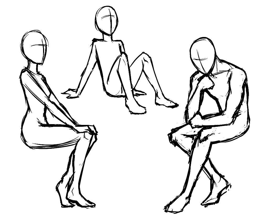 картинки человека в разных позах указан