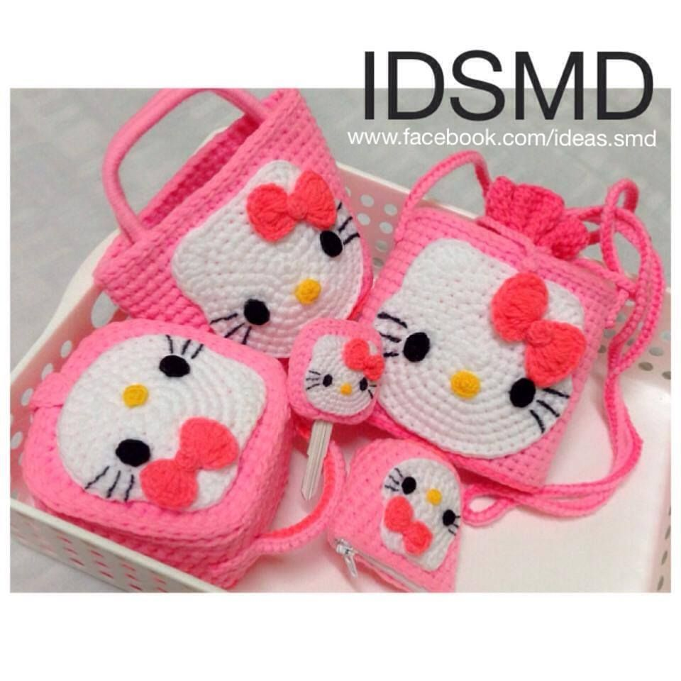 Hello Kitty set | Crochet ideas / Babies,little girls and little ...