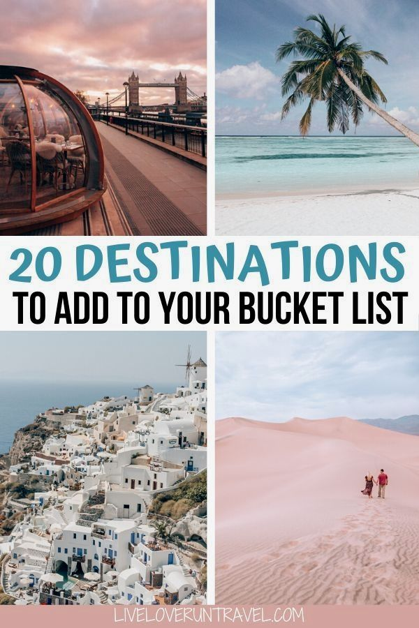 Click here for a list of the top 20 travel destinations for 2020 you must see! #beautifulplaces #bucketlist #travel | once in a lifetime destinations | bucket list destinations | bucket list travel…More