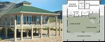 Plan 3481vl Elevated Living Beach Style House Plans Craftsman House Plans Coastal House Plans