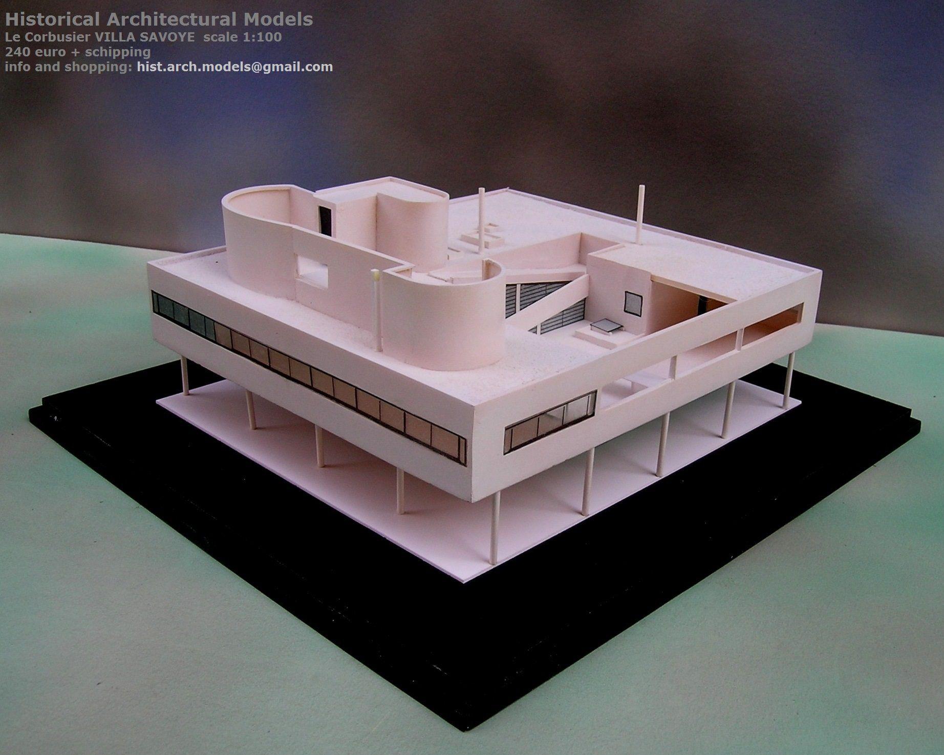 Extrêmement VILLA SAVOYE by Le Corbusier scale 1:100 | Villa Savoye | Pinterest SF98