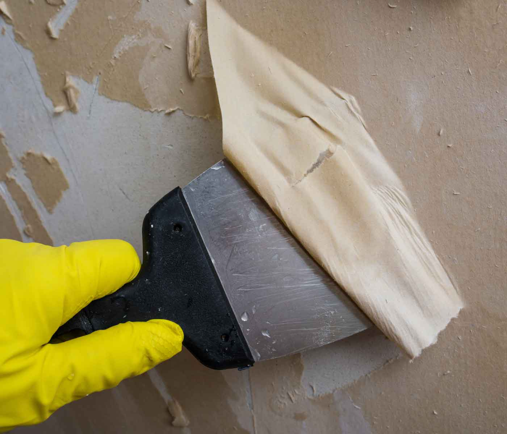 How To Prepare Your Wall For Wallpaper Wallpaper How To Hang Wallpaper One Small Step