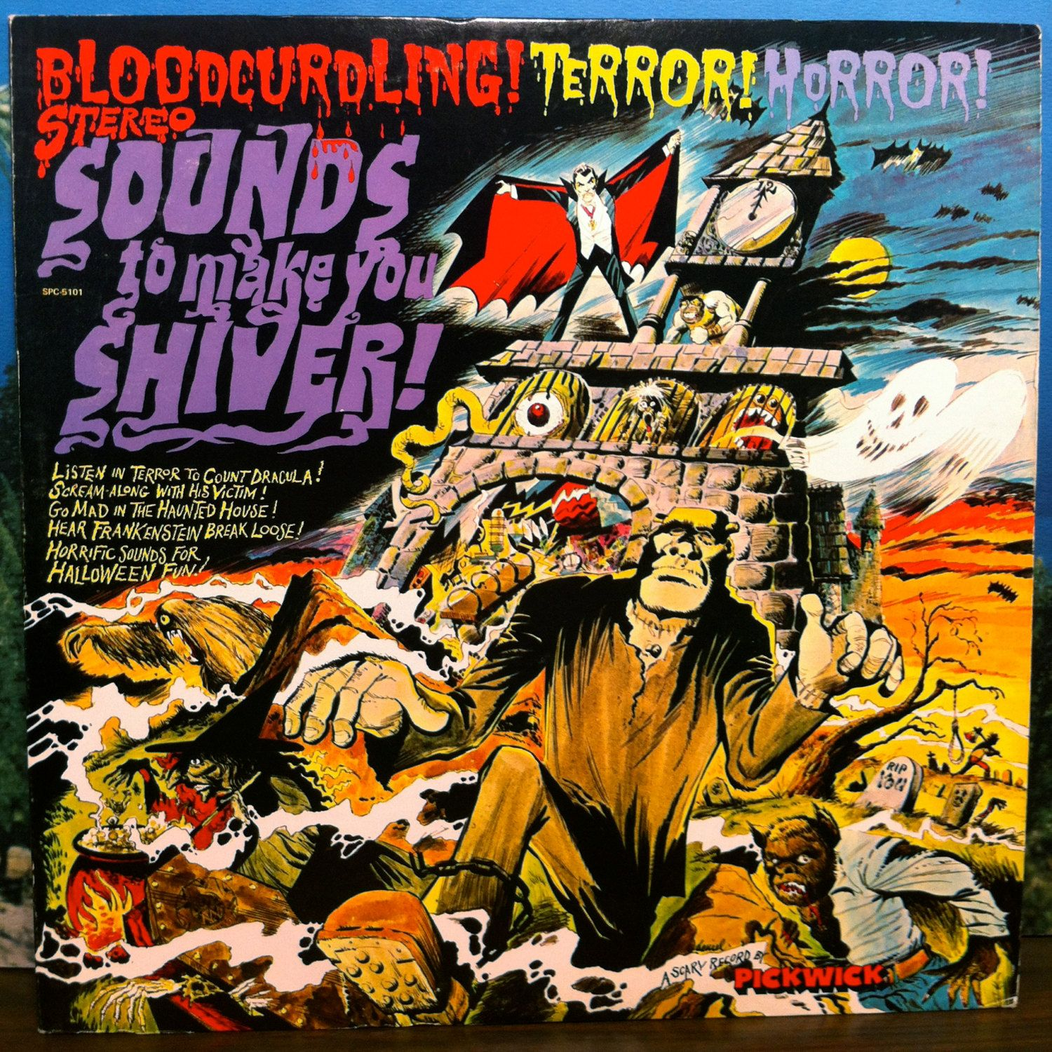 Sounds to Make You Shiver Vinyl Record LP Scary Terror Horror ...