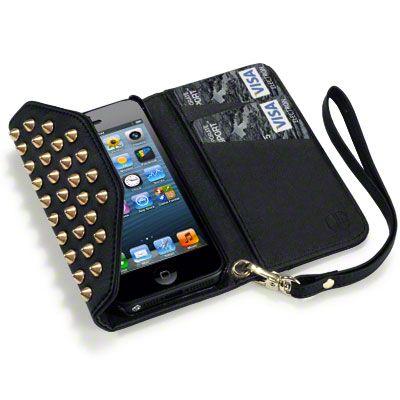 Köp Covert Plånboksfodral iPhone 5/5S/SE Nitar svart online: http://www.phonelife.se/covert-planboksfodral-iphone-5-5s-se-nitar-svart