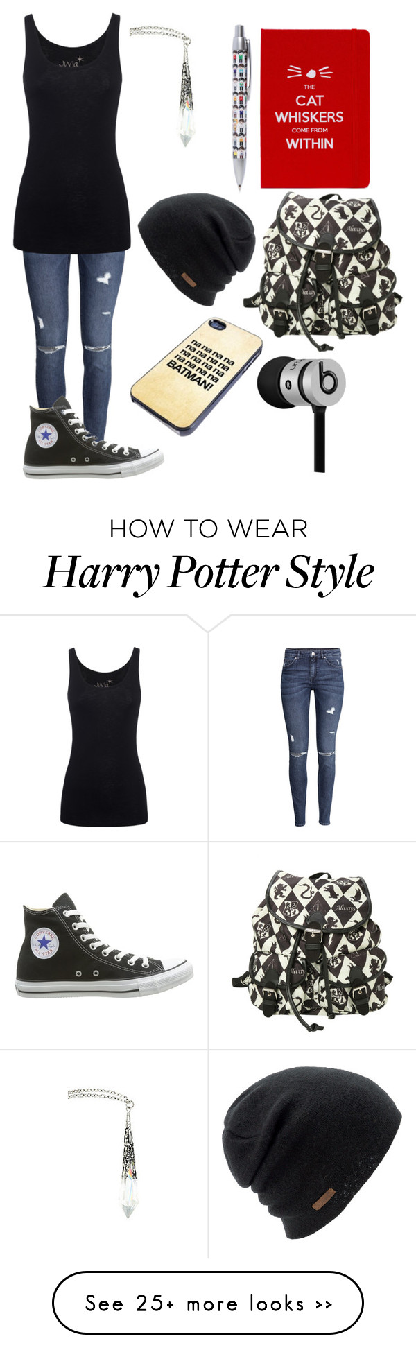 """""""Untitled #2"""" by gottaloveyoutube on Polyvore featuring H&M, Juvia, Converse, Coal and Beats by Dr. Dre"""