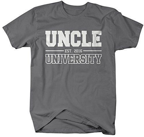 Shirts By Sarah Men's Uncle University Est. 2016 T-Shirt Father's Day Shirts