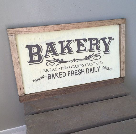 Bakery Sign Farmhouse Kitchen Decor By