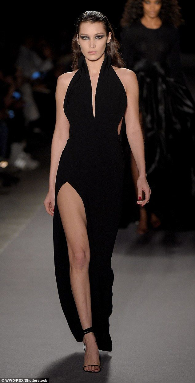 Cut a sophisticated swath like Bella in Brandon Maxwell #DailyMail Click 'Visit' to buy now