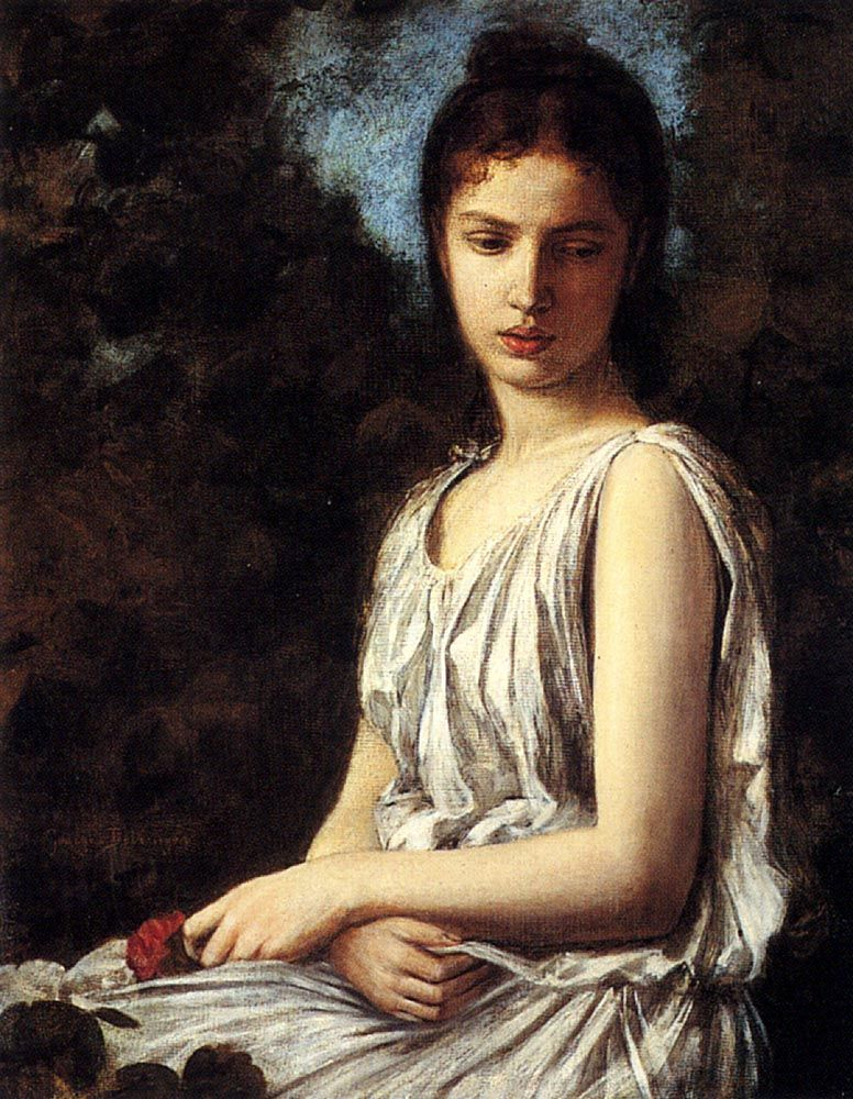 Georges Bellanger (1847-1918) A Young Woman In Classical ...