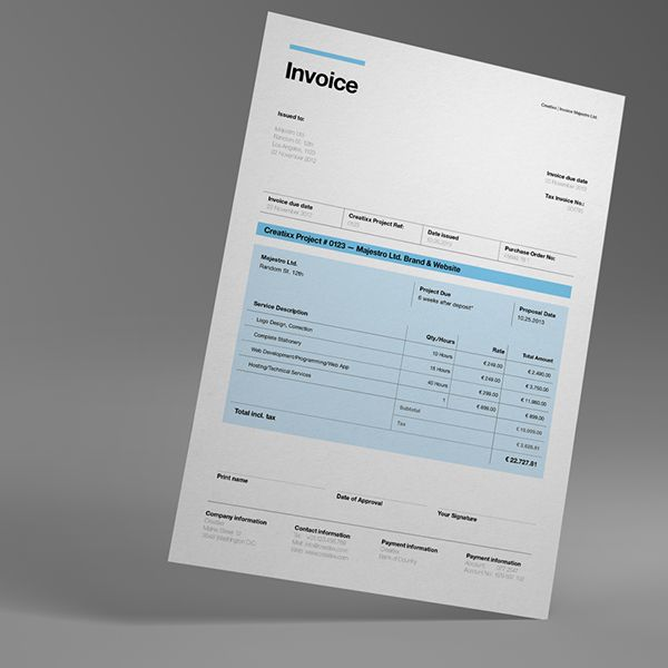 Proposal Template Suisse Design With Invoice On Behance  Identity