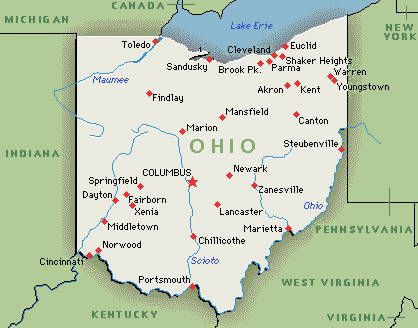 Colleges And Universities In Ohio That Offer Environmental Science - Us map of ohio