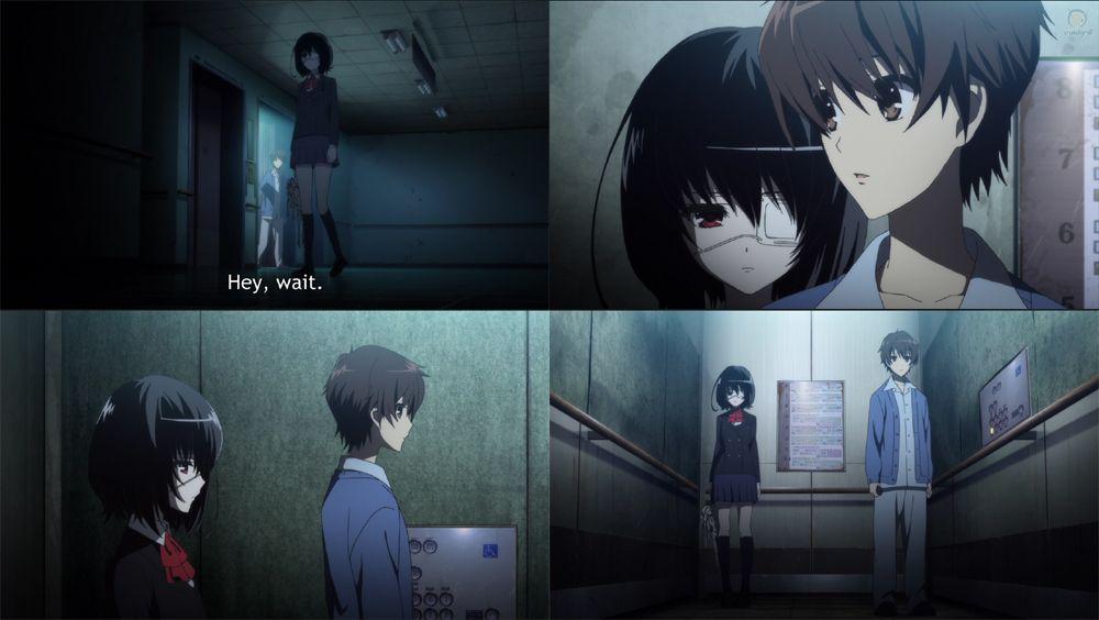Another episode 1 review anime horror novel episode