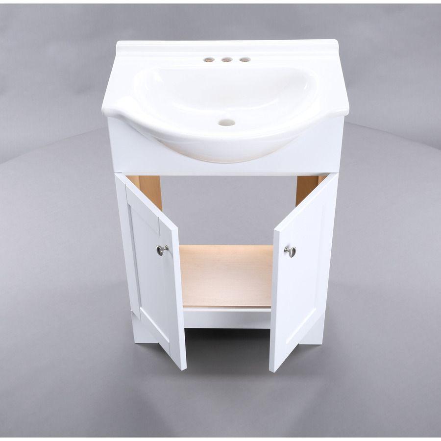 shop style selections euro white integral single sink bathroom rh za pinterest com