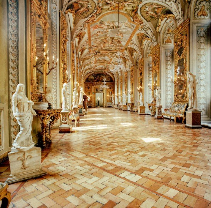 Inside the Palazzo Doria Pamphilj in Rome
