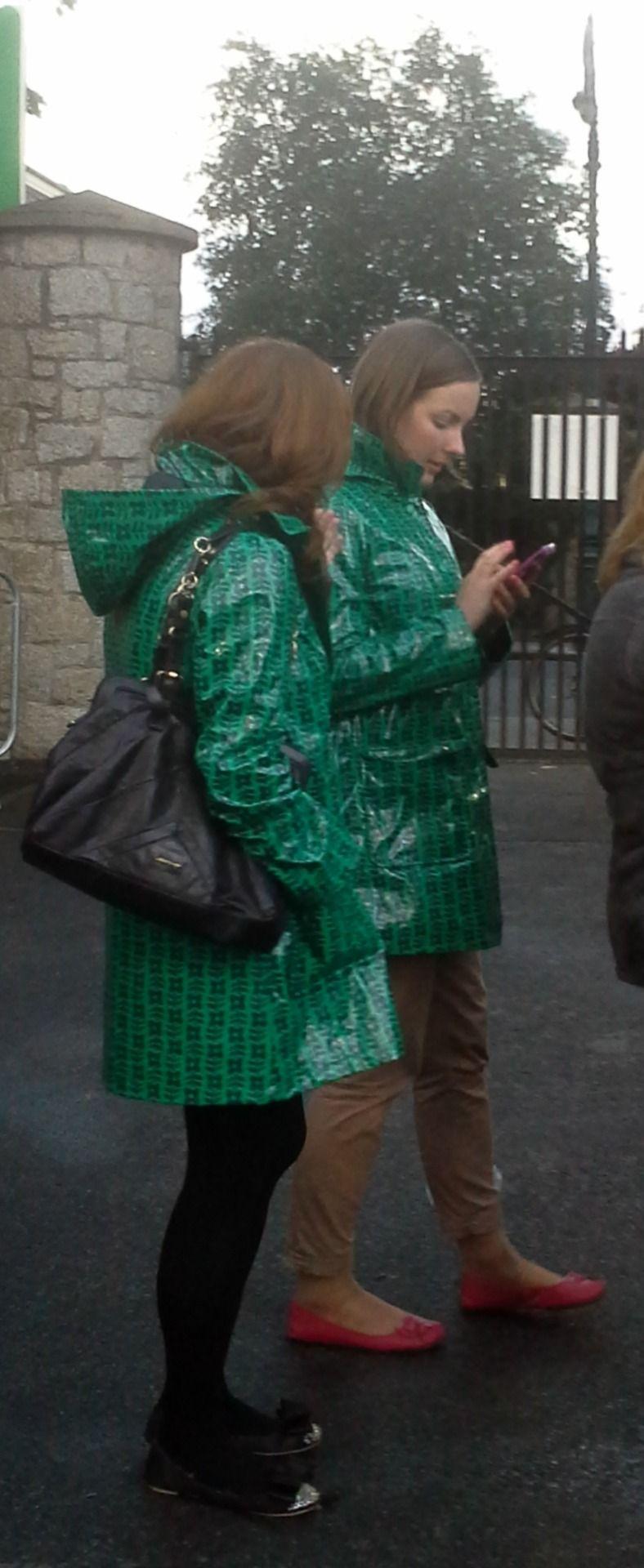 Rainwear Beauties Ireland — Two friends in matching green Dunnes ...
