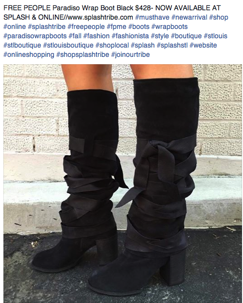 FREE PEOPLE Paradiso Wrap Boot Black $428- www.splashtribe.com