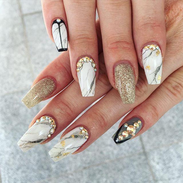 21 Marble Nail Designs | nails | Pinterest | Marble nails ...