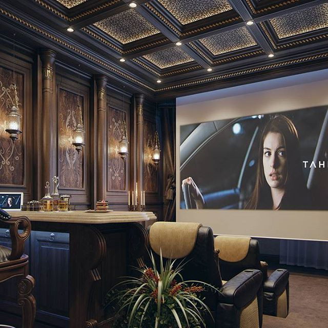 "Qatar Luxury Homes: Luxury Home Theater ""Qatar"" By Taher Design Studio, ©Taher"