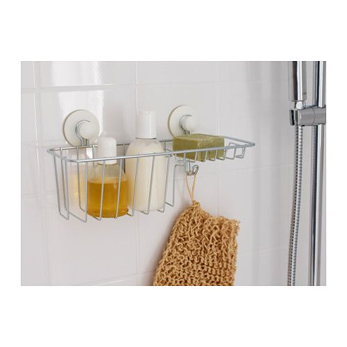 IMMELN Shower soap basket with hook - IKEA THB 399 for kitchen dish soap 117fffd93e0fa